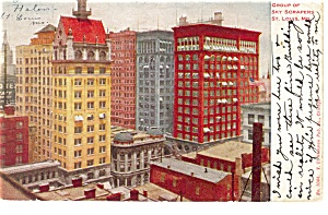 St Louis,MO, Group of Sky Scrapers Postcard 1909 (Image1)