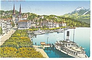 Luzern,Switzerland Qual mit Rigi Postcard (Image1)