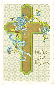 Easter Cross Vintage Postcard (Image1)
