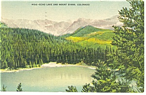Echo Lake And Mt Evans Co Postcard P10169 1941