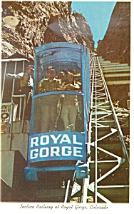 Incline Railway at Royal Gorge CO Postcard p10170 (Image1)