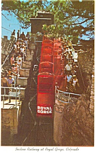 Royal Gorge CO Incline Railway  Postcard p10171 (Image1)