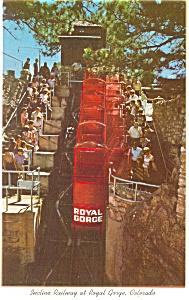 Royal Gorge CO Incline Railway  Postcard p10171 (Image1)