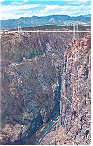 Royal Gorge Suspension Bridge CO  Postcard p10173 (Image1)