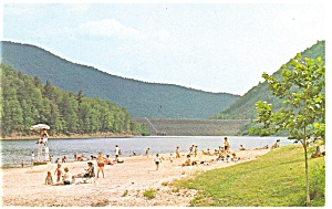 Little Pine Creek Dam Waterville PA  Postcard p10176 (Image1)