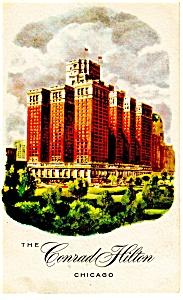Chicago,IL Conrad Hilton Hotel Postcard p10208 (Image1)