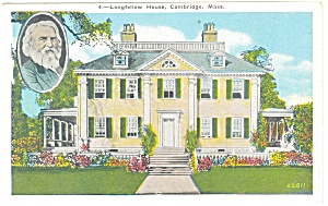 Cambridge, MA, Longfellow's Home Postcard (Image1)