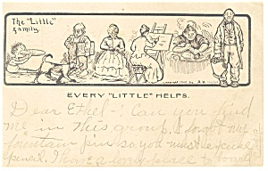 Every Little Helps Postcard p10234  1905 (Image1)
