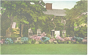 East Hampton NY John Payne Home Hand Colored Postcard p10266 (Image1)