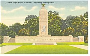 Gettysburg, PA, Peace Memorial Postcard (Image1)