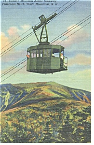 Cannon Moutain Aerial Tramway Linen Postcard P10273