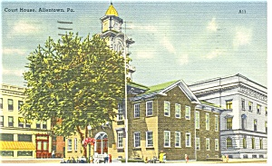 Allentown, PA, Court House Postcard (Image1)