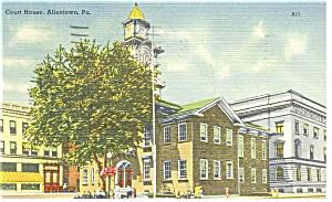 Allentown PA Court House Postcard p10299 (Image1)