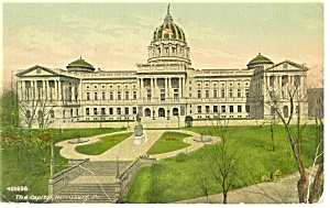 Harrisburg , PA State Capitol Postcard 1912 (Image1)