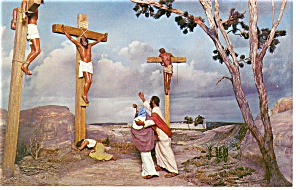 Silver Springs Fl The Crucifixtion Golgotha Postcard P10376