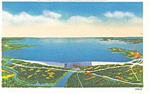 Lake Murray SC and Saluda Dam Postcard p10422 (Image1)