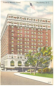 Charleston Sc Francis Marion Hotel Postcard P10423a