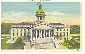 Columbia Sc The State Capitol Postcard P10424