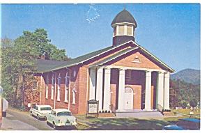 Cullowhee Baptist Church NC Postcard p10425 Old Cars (Image1)