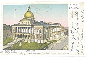 Boston, MA The State Capitol Postcard 1905 (Image1)