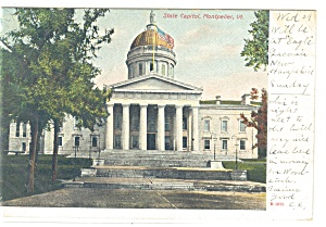 Montpelier VT State Capitol Undivided Back Postcard p10431 (Image1)