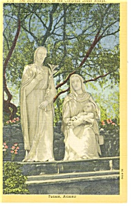 Tucson AZ Holy Family Sculpture Postcard p10453 (Image1)