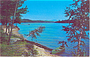 Lake Scene  Rowboat and Beach Postcard (Image1)