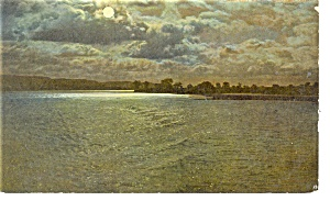 Moonlight on a Lake Postcard p10473 (Image1)