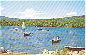 Lake Scene Sail Boat Morrisville PA  Postcar (Image1)