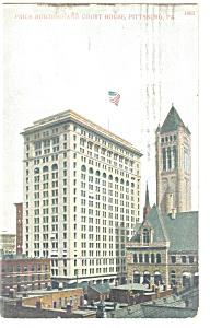 Pittsburgh PA Court House Postcard p10506 1908 (Image1)