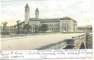 Pittsburgh PA Carnegie Library Postcard p10507 1906 (Image1)