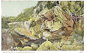 Polar Caves NH World s Largest Boulder Postcard p10527 (Image1)