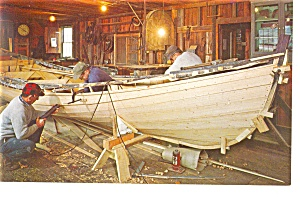 Mystic Seaport CT The Boat Shop Postcard p10533 (Image1)