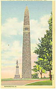 Bennington, VT, Battle Monument  Postcard (Image1)
