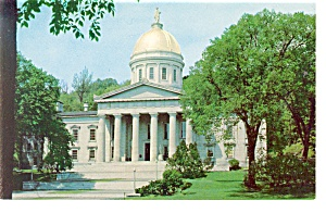 Montpelier VT State Capitol Postcard p10599 (Image1)