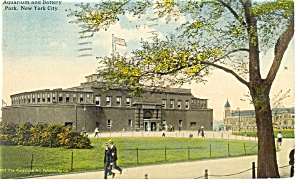 New York,NY, Aquarium Battery Park  Postcard 1917 (Image1)