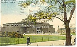 New York NY Aquarium Battery Park  Postcard p10628 1917 (Image1)