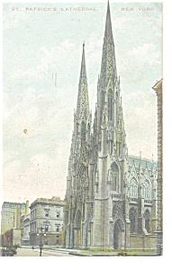 New York NY  St Patrick s Cathedral  Postcard  p10630 1911 (Image1)