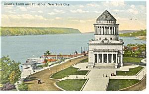 New York NY Grant s Tomb and Palisades Postcard p10638 1915 (Image1)