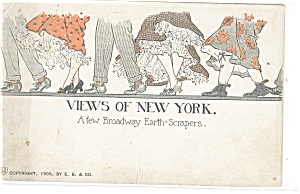 New York NY Broadway Earth Scrapers Postcard p10641 1912 (Image1)