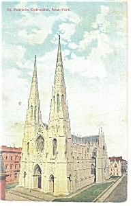 New York  NY St Patrick s Cathedral Postcard p10642 (Image1)