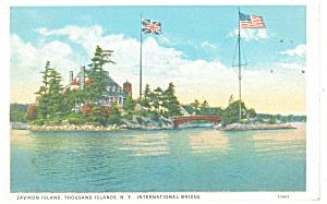 Thousand Islands NY Zavikon Island Postcard p10646 (Image1)