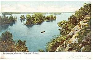 Thousand Islands NY Picturesque America Postcard p10647 1907 (Image1)