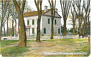 Hudson NY Old Claverack Court House Postcard p10660 (Image1)