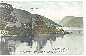 Hudson River NY Gate of The Highlands Postcard p10664 1908 (Image1)