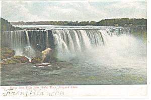 Niagara Falls Horseshoe Falls Postcard p10673 1907 (Image1)