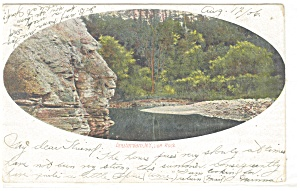Amsterdam NY Lion Rock Postcard p10677 1906 (Image1)