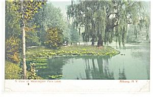Albany NY Washington Park Lake Postcard p10679 (Image1)