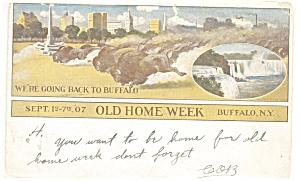 Buffalo NY Old Home Week Postcard p10681 (Image1)
