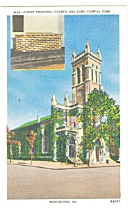 Winchester, VA,Christ Episcopal Church Postcard (Image1)